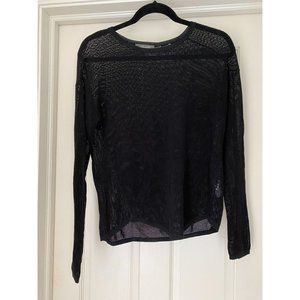 CHRISTOPHER FISCHER Black Knit Crewneck Sweater XS